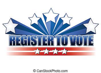 voto, registro, ilustración