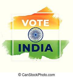 voto, resumen, india, elección, plano de fondo