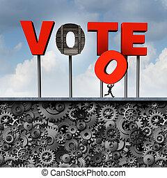 voto, roubado