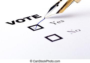 voto, sim