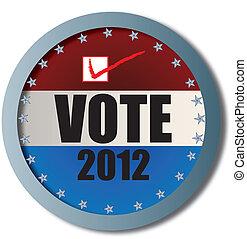 voto, teia, botão, 2012