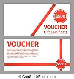 Voucher certificate blank template