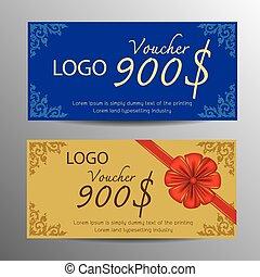 Voucher design template