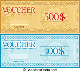 voucher design, voucher template