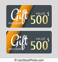 Voucher template with gold design,certificate. Background coupon clean and modern pattern.
