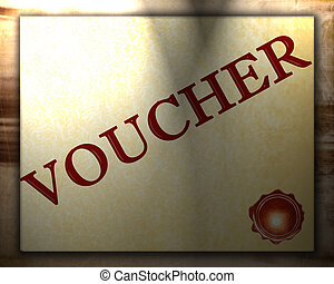 voucher with some stains and spots on it