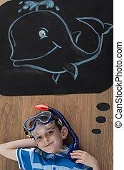 vouloir, voir, baleine