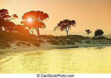 Vourvorou beach in Greece