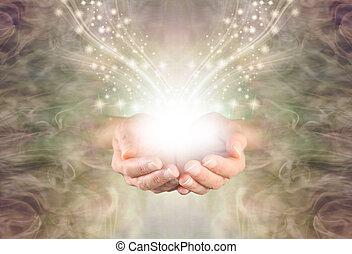 vous, énergie, élevé, guérison, envoi, résonance