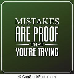 vous êtes, typographie, citations, erreurs, conception, fond, trying., preuve