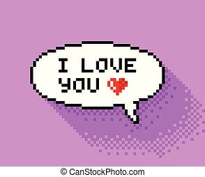 Coeur Pixel Coeur Illustration Plat Conception