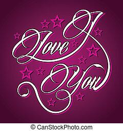 vous, amour, salutation, créatif