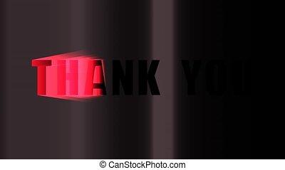 vous, animation, remercier