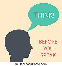 vous, avant, penser, parler