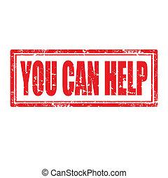 vous, boîte, help-stamp