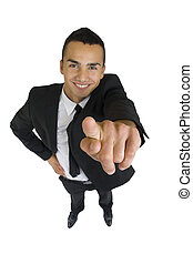 vous, business, pointage, homme