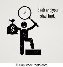 vous, chercher, trouver, shall