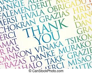 vous, concept, mot, remercier, nuage