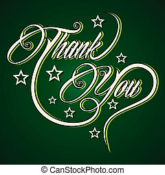 vous, créatif, remercier, salutation