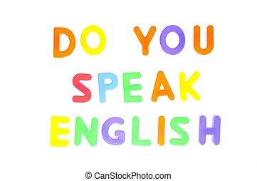 vous, english., parler