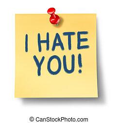 vous, haine