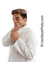 vous, homme, doigt indique, ethnique