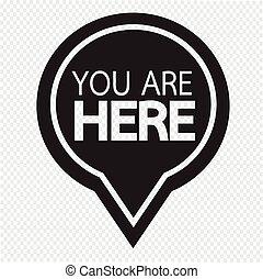 vous, ici, icône