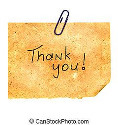 vous, message, remercier