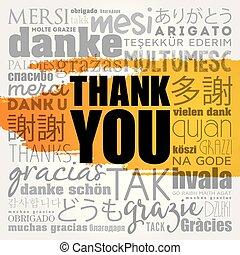 vous, mot, remercier, nuage