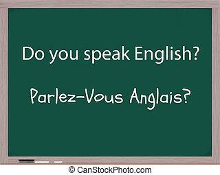 vous, parler, francais, anglaise