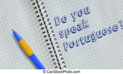 vous, portuguese?, parler