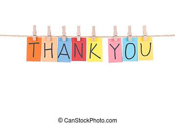 vous, remercier, bois, pendre, mots, cheville