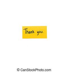 vous, remercier, carte