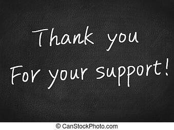 vous, ton, soutien, remercier
