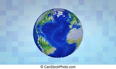 Voxelize earth.