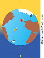 Voyage around the globe regatta