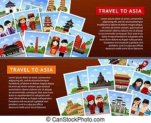 voyage, asiatique, countries.