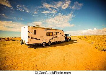 voyage, aventures, caravane