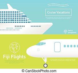 voyage, avion, bateau