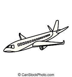 voyage, baston, international, ligne, avion, transport