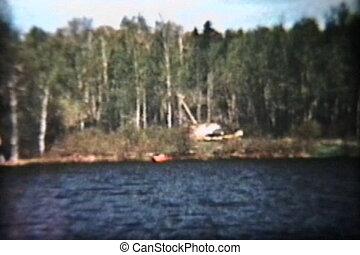 voyage, bois, lac, (1960)