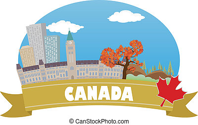 voyage, canada., tourisme