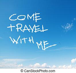 """voyage, """"come, ciel, écrit, me"""""""