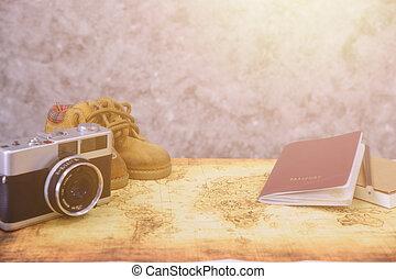 voyage, concept., accessoires