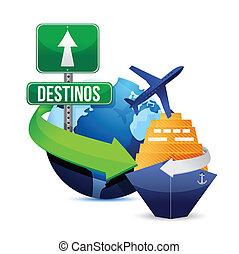 voyage, concept, espagnol