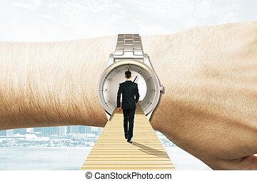 voyage, concept, temps