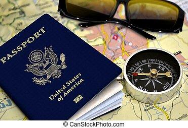 voyage, concept, vacances