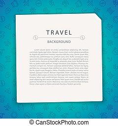 voyage, copie, fond, coloré, espace