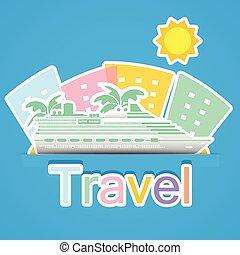 voyage, croisière bateau