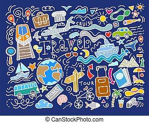 voyage, doodles